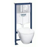 Комплект унитаза с инсталляцией Grohe Solido Perfect 39186000
